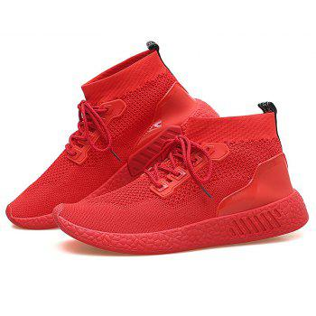 2018 Summer New Arrival High Vamp Sports Shoes - RED 39
