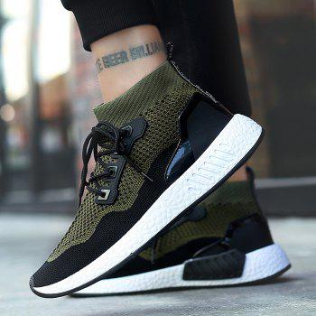 2018 Summer New Arrival High Vamp Sports Shoes - GREEN 43