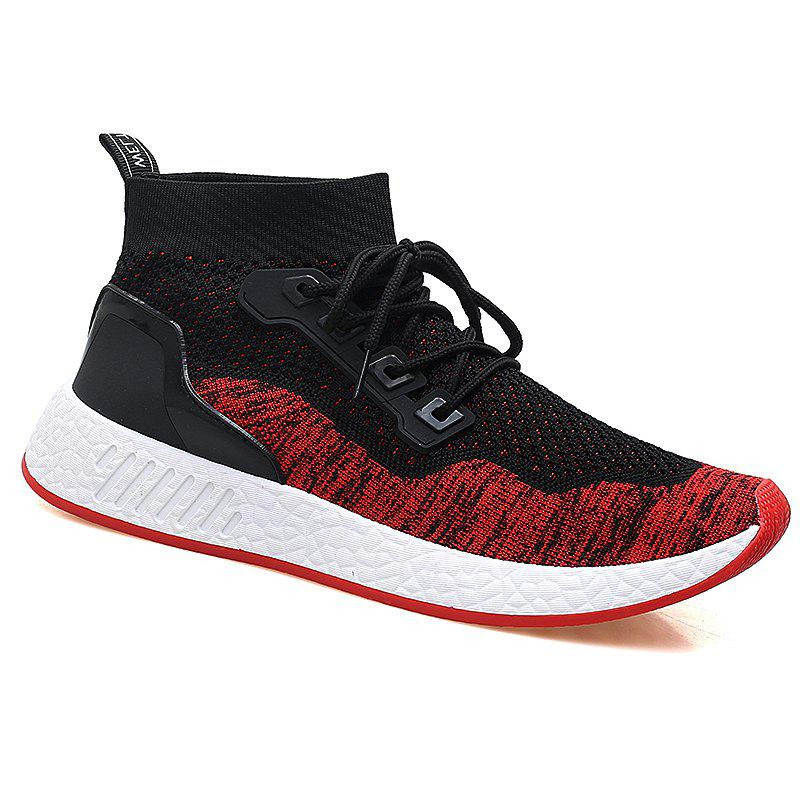 2018 Summer New Arrival High Vamp Sports Shoes - BLACK/RED 42