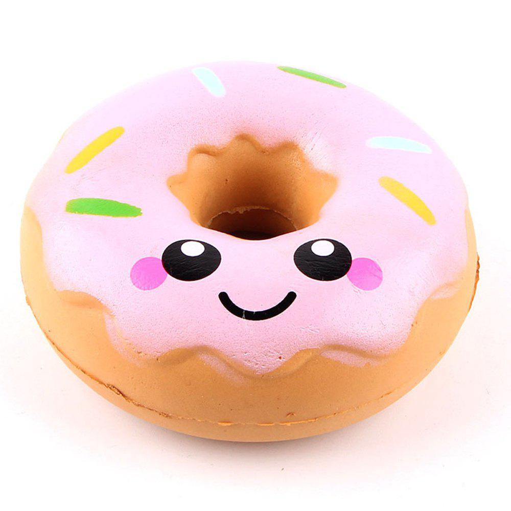 Jumbo Squishy Squeeze Doughnuts PU Collection Gift Soft Toy - PINK
