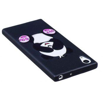 Relief Silicone Case for Sony Xperia XA1 Panda Pattern Soft TPU Protective Back Cover - BLACK