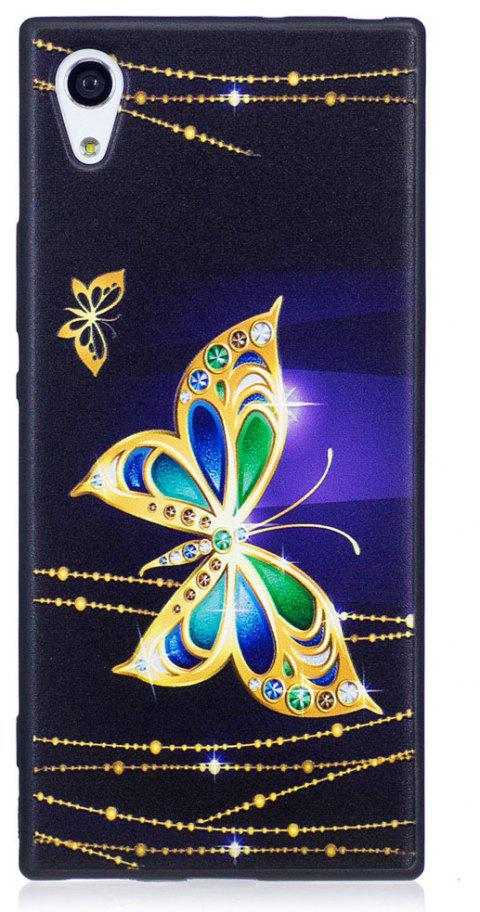 Relief Silicone Case for Sony Xperia XA1 Large Butterfly Pattern Soft TPU Protective Back Cover - PURPLE