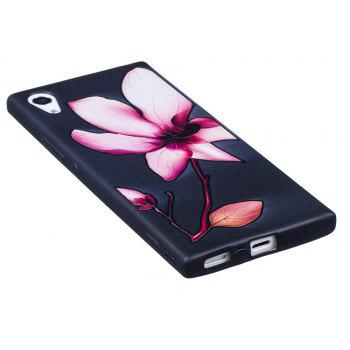 Relief Silicone Case for Sony Xperia XA1 Lotus Pattern Soft TPU Protective Back Cover - PINK