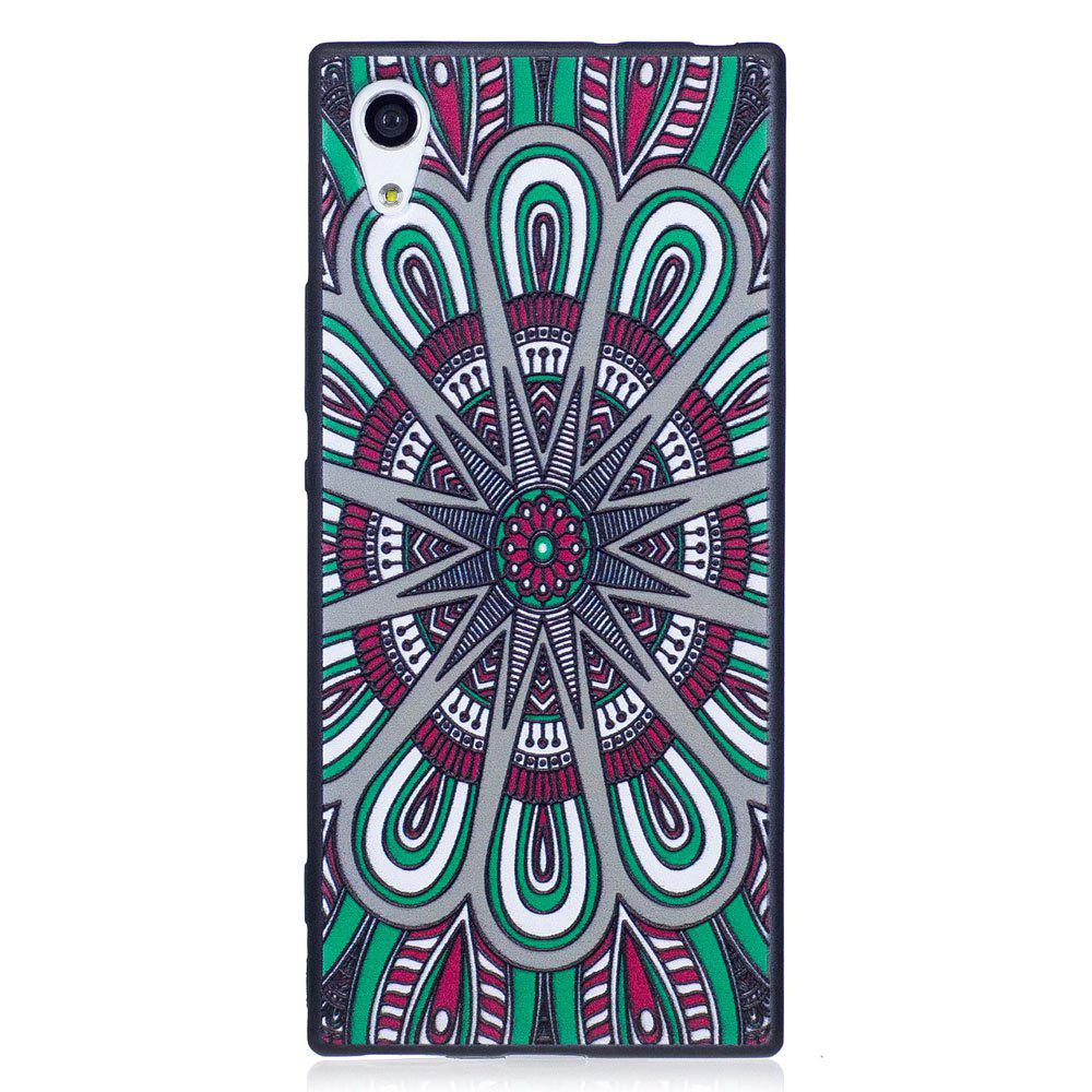 Relief Silicone Case for Sony Xperia XA1 Mandala Pattern Soft TPU Protective Back Cover - COLOUR