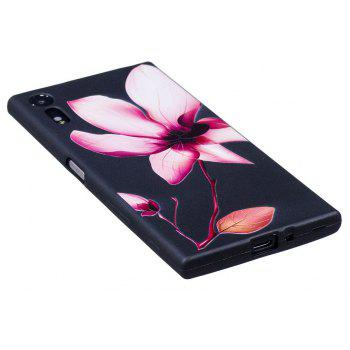 Relief Silicone Case for Sony Xperia XZ / XZS Lotus Pattern Soft TPU Protective Back Cover - PINK