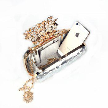 Women PU Evening Bag Crystal Rhinestone Wedding Event Party Formal - GOLDEN