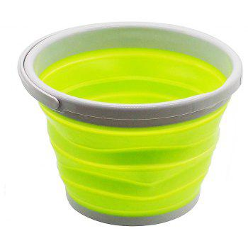 5L Collapsible Bucket for Storing / Cleaning / Carrying / Cooling Use - GREEN