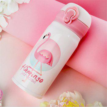 Flamingo Thermo Mug Steel Thermos Bottle Belly Cup Thermal Bottles for Water Insulated Tumbler Car Coffee Mug - PINK
