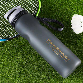 1L Travel Sport Flexible Eco-Friendly Silicone Water Bottles Foldable Drinkware - BLACK
