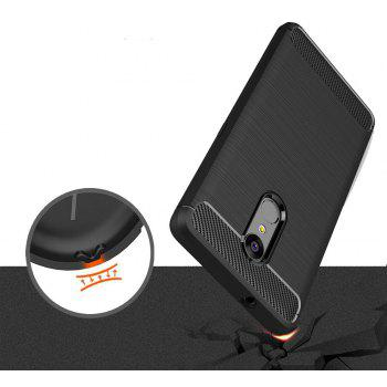 Case for Lenovo K8 Luxury Carbon Fiber Anti Drop TPU Soft Cover - BLACK