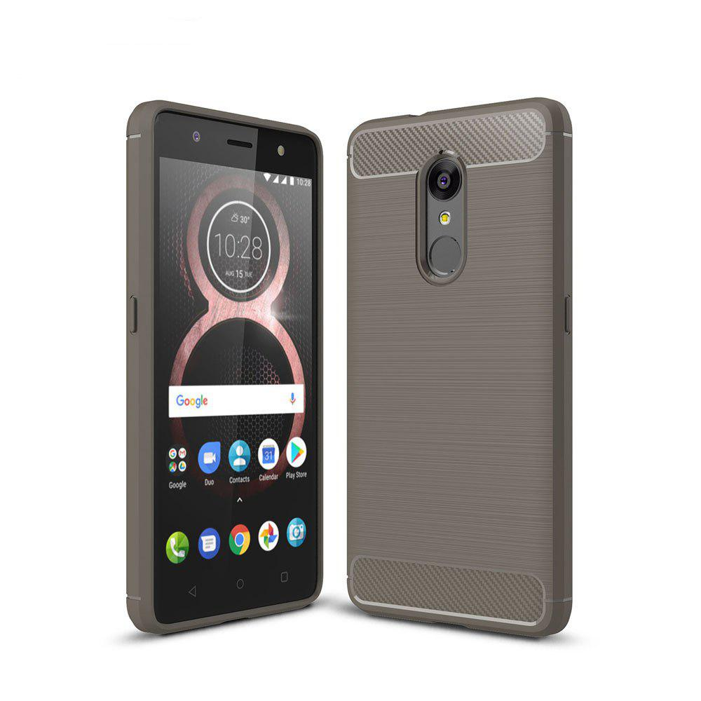 Case for Lenovo K8 Luxury Carbon Fiber Anti Drop TPU Soft Cover - GRAY