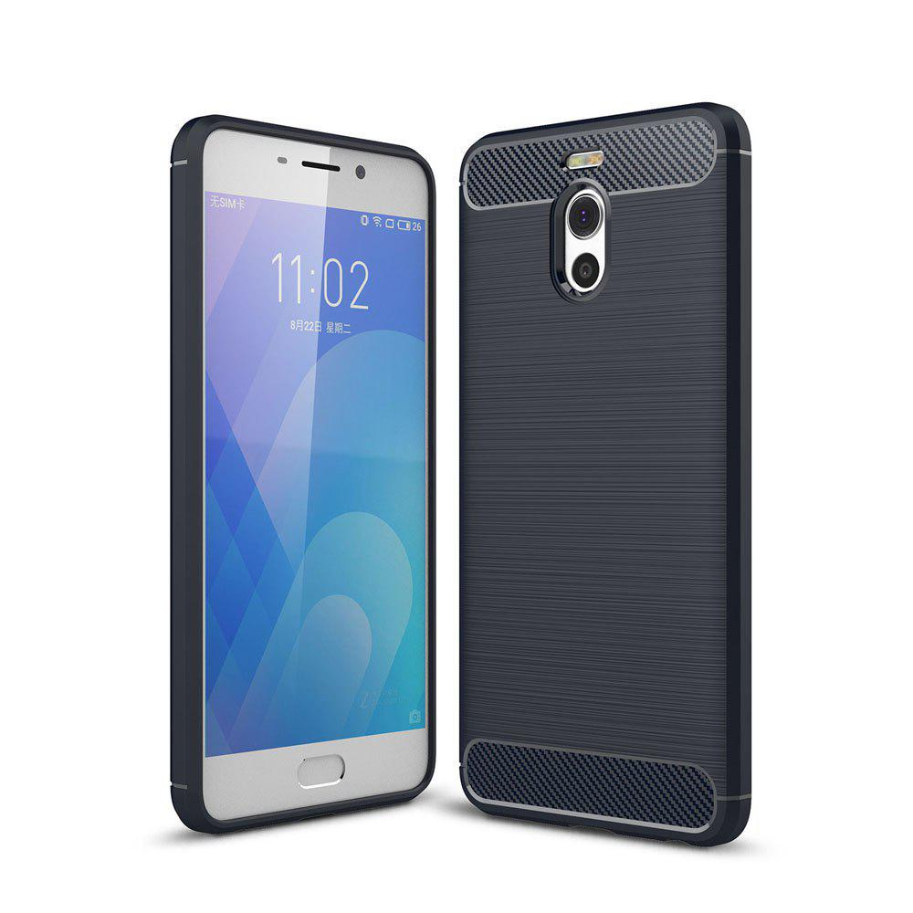 Case for Meizu Meilan Note 6 / M6 Note Luxury Carbon Fiber Anti Drop TPU Soft Cover - NAVY