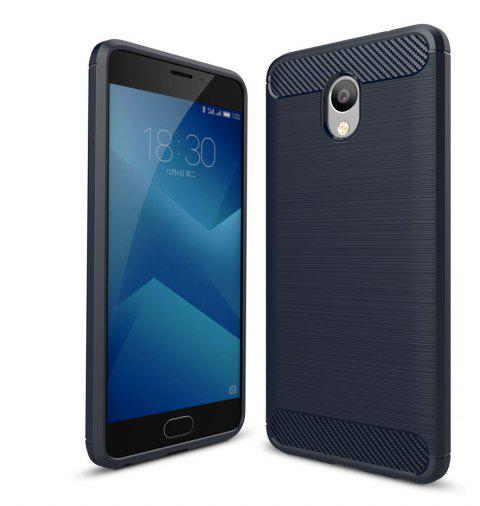 Case for Meizu M5 Note Luxury Carbon Fiber Anti Drop TPU Soft Cover - NAVY