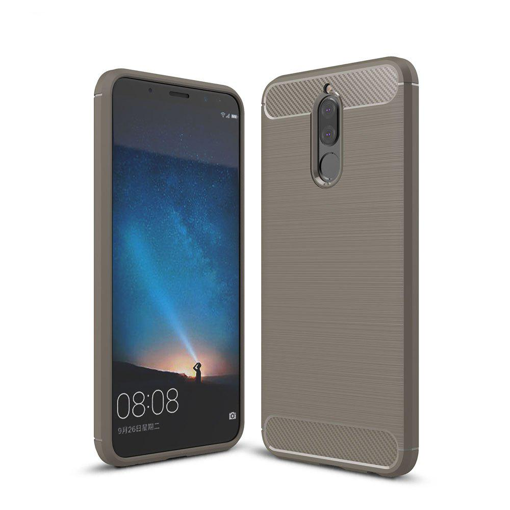 Case for Huawei Mate 10 Lite / Maimang 6 Luxury Carbon Fiber Anti Drop TPU Soft Cover - GRAY