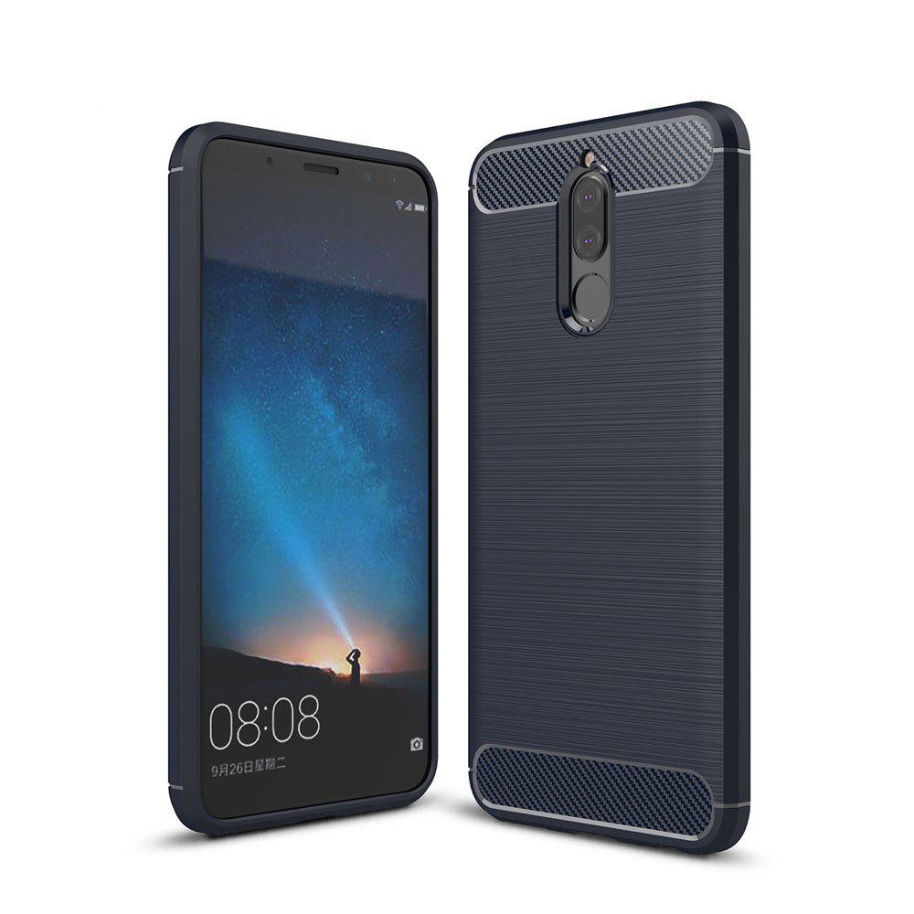 Case for Huawei Mate 10 Lite / Maimang 6 Luxury Carbon Fiber Anti Drop TPU Soft Cover - NAVY
