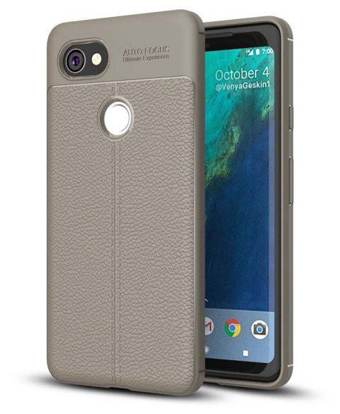Shockproof Case for Google Pixel 2 XL Litchi Grain Anti Drop TPU Soft Cover - GRAY