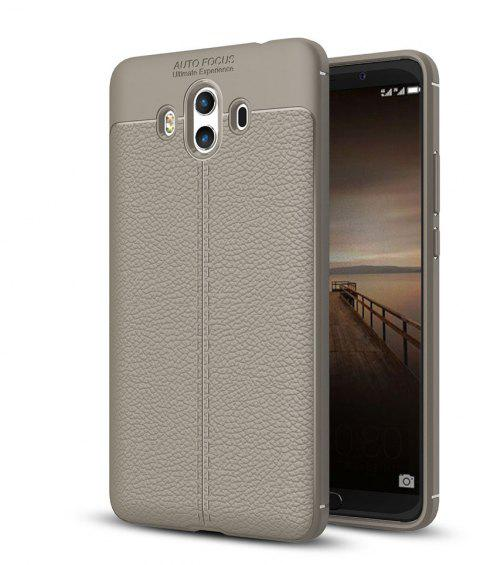 Shockproof Case for Huawei Mate 10 Litchi Grain Anti Drop TPU Soft Cover - GRAY