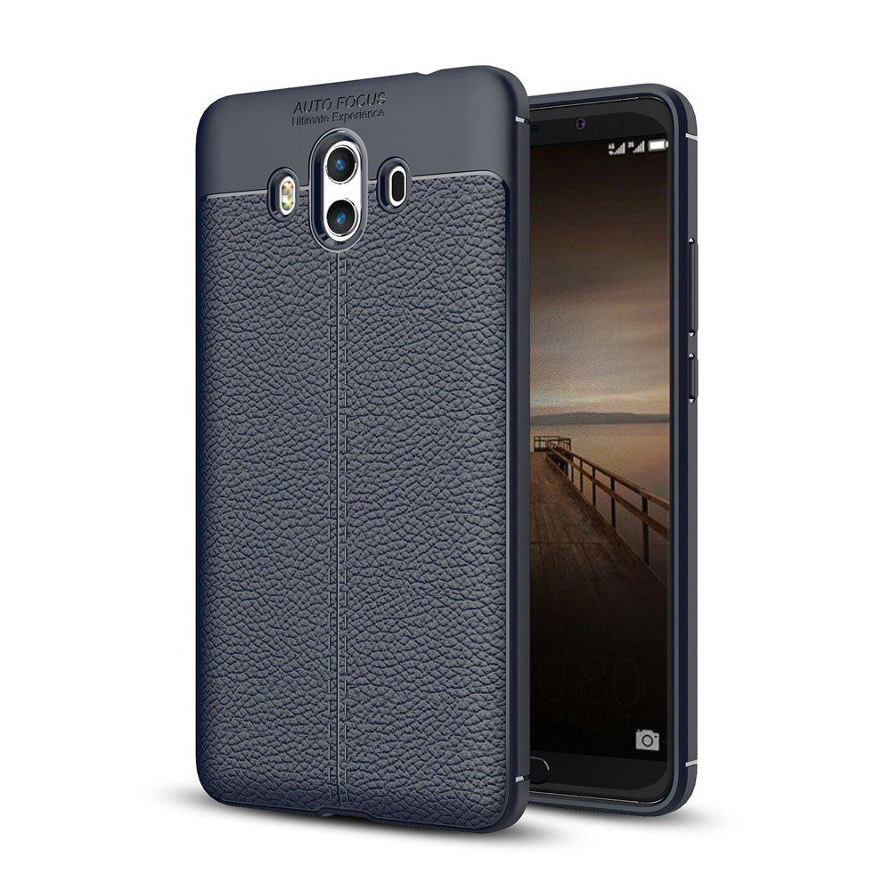 Shockproof Case for Huawei Mate 10 Litchi Grain Anti Drop TPU Soft Cover - NAVY