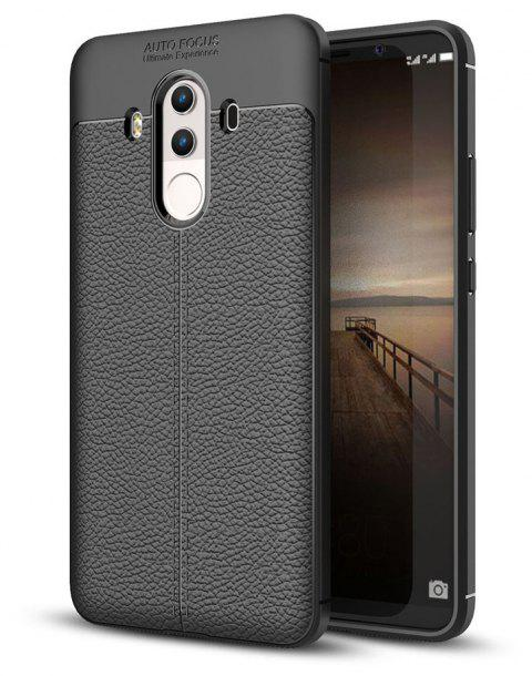 Shockproof Case for Huawei Mate 10 Pro Litchi Grain Anti Drop TPU Soft Cover - BLACK