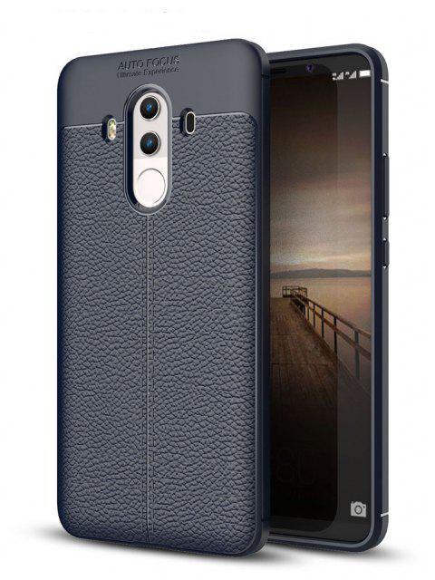 Shockproof Case for Huawei Mate 10 Pro Litchi Grain Anti Drop TPU Soft Cover - NAVY