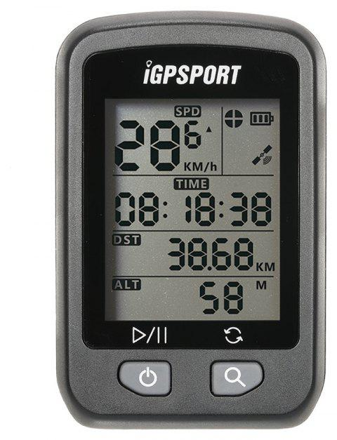 iGPSPORT iGS20E Rechargeable Bicycle GPS Computer - BLACK