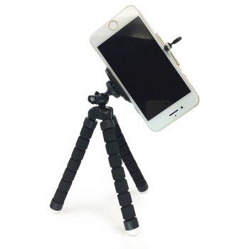 Universal Compact Tripod Stand Flexible Octopus Phone Camera Selfie Stick Tripod Mount for Smartphone/Digital Camera - BLACK