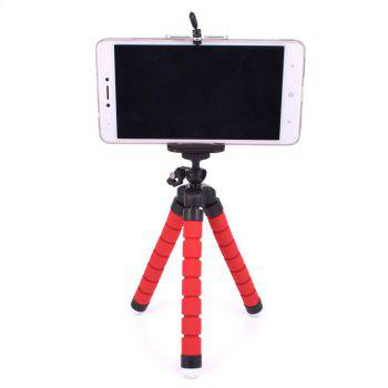 Universal Compact Tripod Stand Flexible Octopus Phone Camera Selfie Stick Tripod Mount for Smartphone/Digital Camera - RED