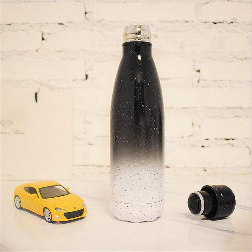500ML Coffee Tea Vacuum Insulated Thermal Cup Water Bottle Car Thermos - BLACK/WHITE