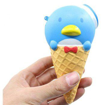 Jumbo Squishy Colossal Ice cream Super Slow Rising Scented Relieve Stress Toy Gifts Cute - BLUE