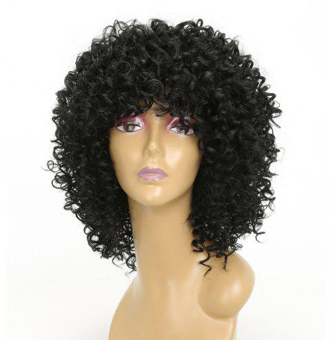Fashion Black Hair Synthetic Long Curly Afro African American Wigs For Women