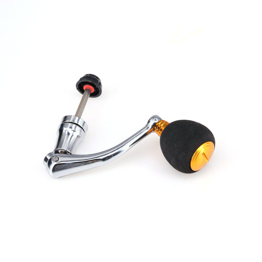 DEUKIO Metal Fishing Accessories Handle With EVA Knob Size M for Most Of The Spinning Reel - GOLDEN M