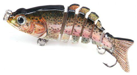 DEUKIO 6 Sections Leurre Appât F6J06 Multi-Baits Évier Bass Fishing - Rose C2BL445