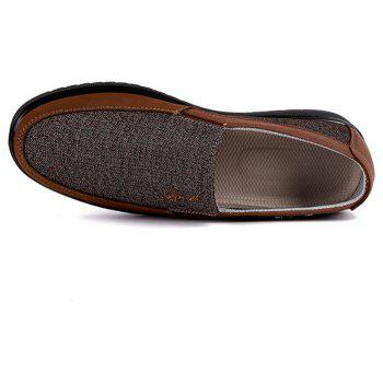 Chaussures Loafer en Tissu Taille Grande Respirantes Anti-Dérapantes pour Homme - BRUN 44