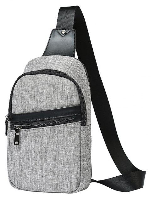 248976fc7e66 Grey Chest Pack Men Small Unbalance Backpack Canvas Crossbody Bag - GRAY