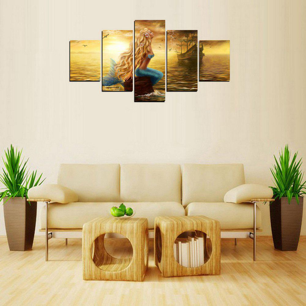 2018 MailingArt FIV309 5 Panels Landscape Wall Art Painting Home ...