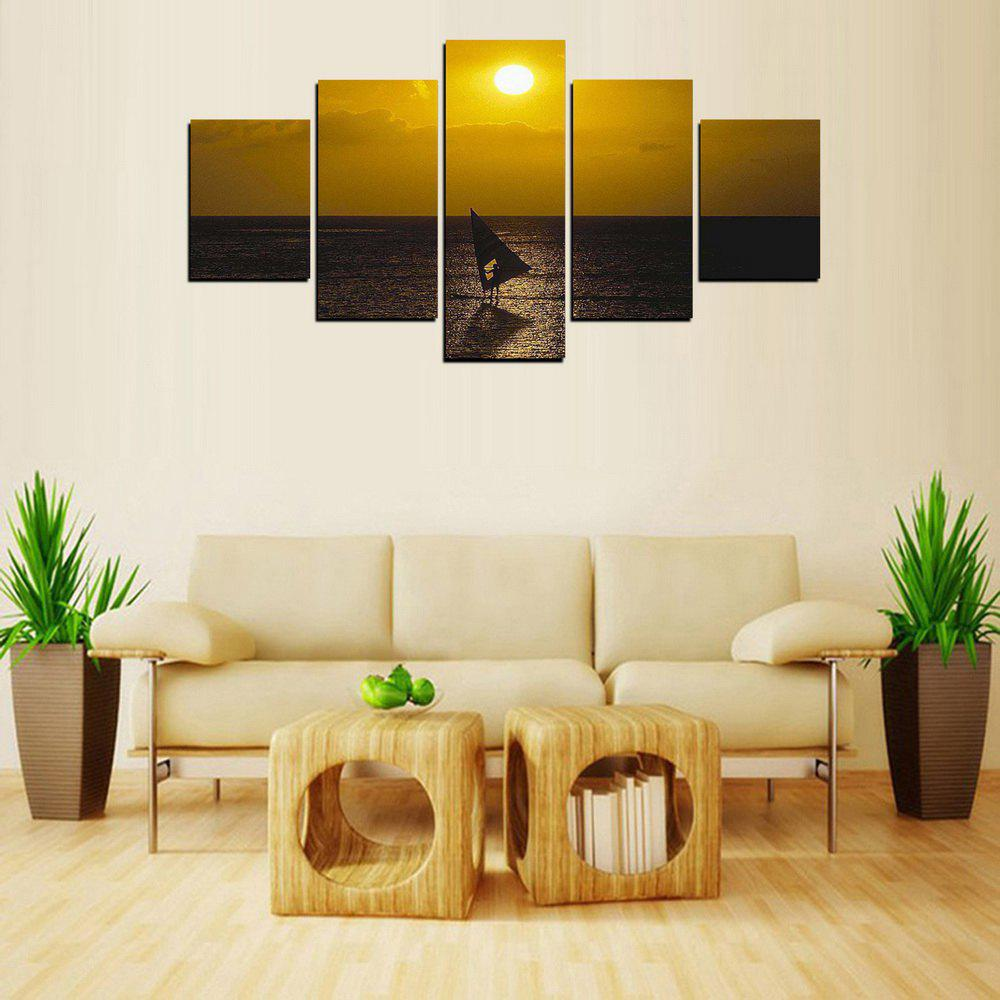 2018 MailingArt FIV345 5 Panels Landscape Wall Art Painting Home ...