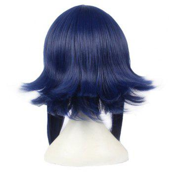 Hinata Student Dark Blue 45cm Straight Long Hair Anime Cosplay Custome Synthetic Wigs for Girls - DARK BLUE 18INCH