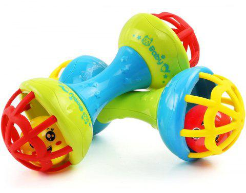 Baby Rattle Hand Shake Bell Birthday Gift Educational Toys for 0 - 3 Years Old Kids - COLOUR