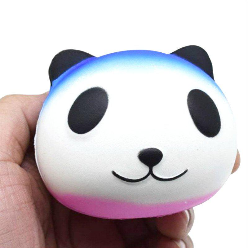 Jumbo Squishy PU Slow Rebound Stress Relief Toy Replica Cartoon White Panda Head for Adults - WHITE