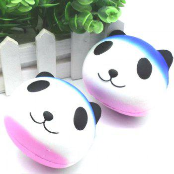 Jumbo Squishy Slow Rebound Soulagement du Stress Jouet Replica Cartoon Blanc Panda Head pour Adultes - [