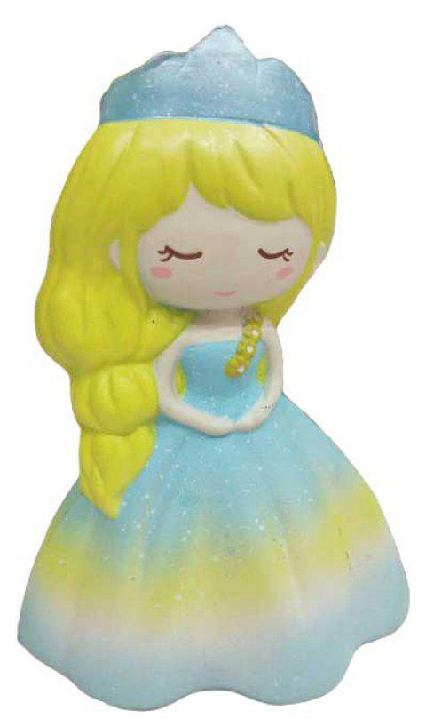 Jumbo Squishy PU Slow Rising Stress Relief Toy Replica Princess for Adults 1PC - COLORMIX