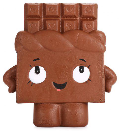 Jumbo Squishy Chocolate Bar Slow Rising Kawaii Collection Decor Gift Toy for Children - BROWN