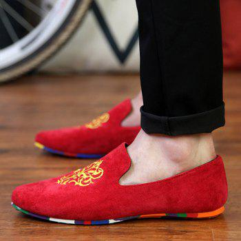 ZEACAVA Men's Fashion Casual  Sneakers Peas Shoes - RED 44