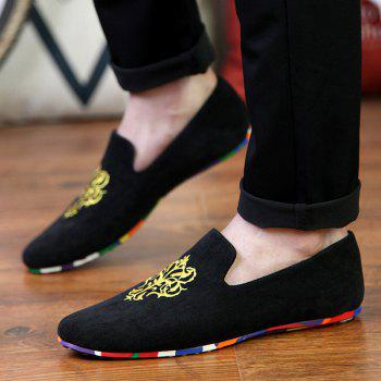 ZEACAVA Hommes Fashion Casual Sneakers Pois Chaussures - Noir 43