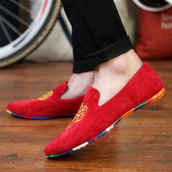 ZEACAVA Men's Fashion Casual  Sneakers Peas Shoes - RED 41