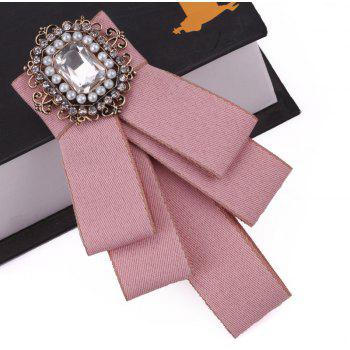 Fashion Acrylic Crystal Collar Homme Nep Kraagje Blouse Cloth Bow Tie Women - PINK