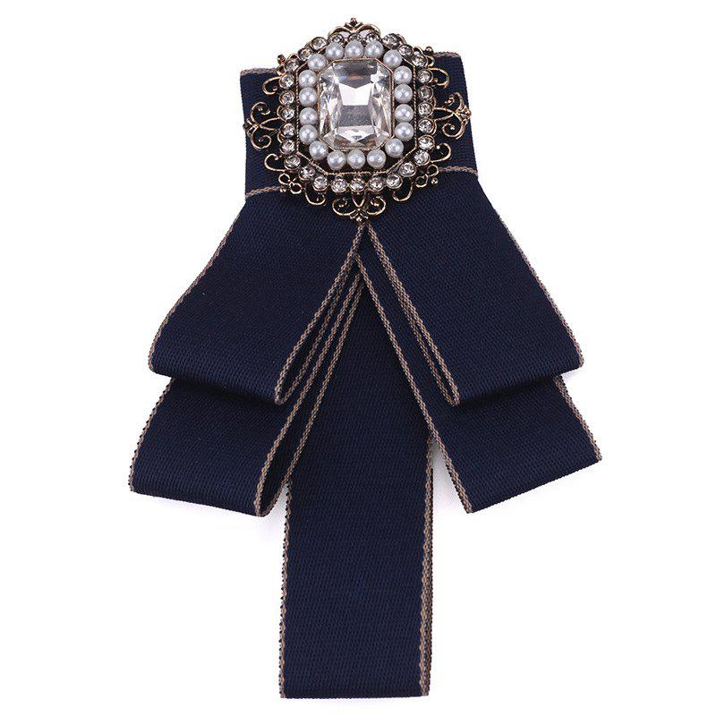 Fashion Acrylic Crystal Collar Homme Nep Kraagje Blouse Cloth Bow Tie Women - BLUE