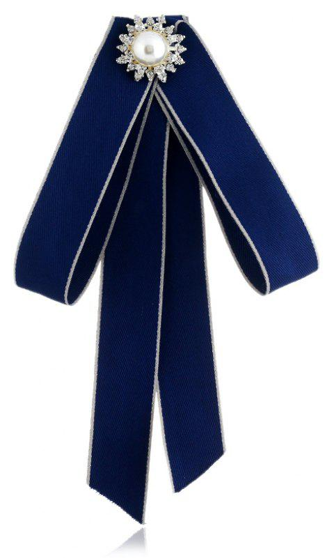 Fashion Bowknot Sequin Bow Tie for Women Wedding Tassel Ties - BLUE