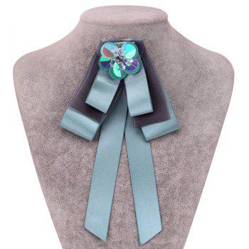 New Fashion Bowknot Crystal Brooch Boutonniere Dual Use Temperament Cravat Tie Wedding Tassel Ties - GREEN