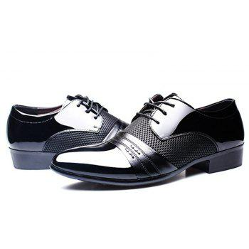 Homme formel pointu Lace Up Business Blucher Chaussures - Noir 43